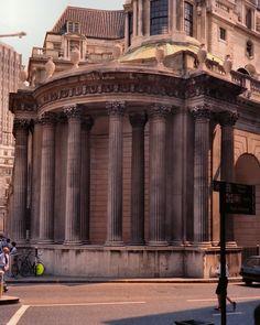 """Tivoli Corner"", Bank of England, City of London (John Soane : London Bank, London City, Classical Elements, Elements Of Design, Britain Uk, Great Britain, Bank Of England, London Architecture, Old Buildings"