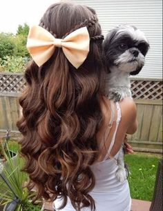 hairstyles for curly hair braids curls and bows