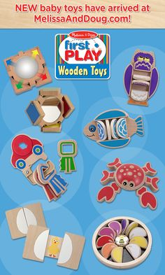 Flip, flap, twist, and slide...with our NEW First Play Wooden Baby Toys - now available at MelissaAndDoug.com! Check them out and tell us: Which ones are your favorites?