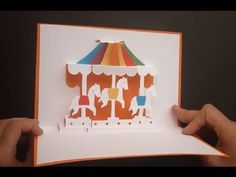 Merry-go-round ( Carousel ) Pop Up Card Tutorial, Origamic Architecture - YouTube