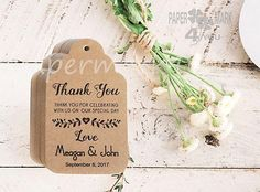 Items similar to 24 Kraft Wedding Personalized Tag _Thank You Tags_ Bridal Favor Tags_ Personalized Tag_Placecard_ Wish Tree Tag_ Rustic Wedding Tag on Etsy Personalized Tags, Personalized Wedding, Thank You Tags, Wedding Favor Tags, Special Day, Rustic Wedding, Place Cards, Place Card Holders, Bridal