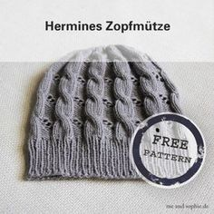Le chapeau de câble d'Hermione - Un tutoriel gratuit - moi et sophie - Hermines Zopfmütze – eine kostenlose Anleitung – Crochet Bunny Pattern, Baby Knitting Patterns, Crochet Baby, Knit Crochet, Crochet Patterns, Knitted Headband, Knitted Hats, Baby Headband Tutorial, Baby Mittens