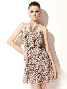 Buy Paris Lotus Leaf Edge Rigorous Dress for Women only at Vanses.com