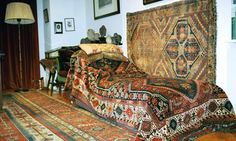 Sigmund Freud's couch, a symbol of Freudian psychoanalysis, at the Freud Museum, north London. (Photograph: Sophia Evans via The Guardian)