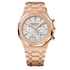 Audemars Piguet Royal Oak or rose http://www.vogue.fr/joaillerie/shopping/diaporama/montres-or-normes/10338/image/639354#audemars-piguet-royal-oak-or-rose