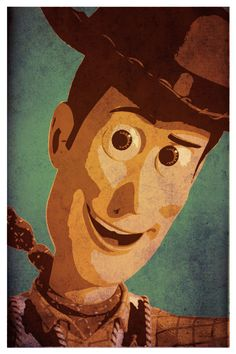 Toy Story custom color vintage poster set par SPACEBARdesigns