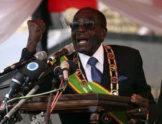 The world's worst tyrants. Zimbabwean President Robert Mugabe