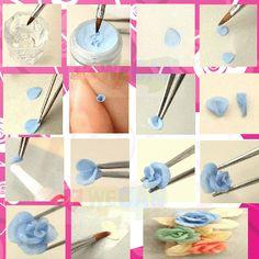 acrylic flower nail art - Google Search