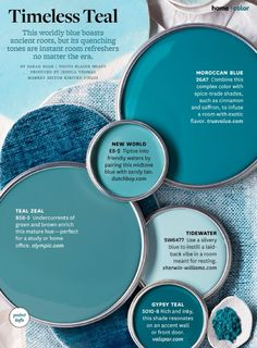 Timeless teal // paint colors