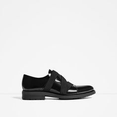 f0238cc06ae Image 5 of BLACK LEATHER SHOES WITH ELASTICS from Zara Black Leather Shoes