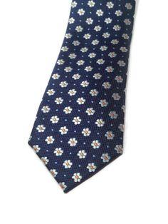 Corbata azul marino flores  sanvalentin  wedding Corbata Azul 9af200ba0c2