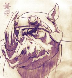 Rocksteady TMNT by ~Mundokk on deviantART