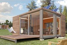 Space Pod - modern granny flat design with a convertible double wall. Ideal for extra room for teenager kids, holiday cabin or can be modified to workspace or office.