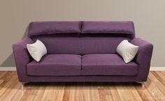 Tøff Napoli sofa med god støtte til rygg og nakke! Pynteputer medfølger som avbildet.
