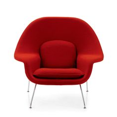 Sunset Settings is full of high-end modern furniture, but it's Eero Saarinen's fire-red Womb chair that tugs at Houston shoppers wanting a dose of retro style.  Saarinen's Womb chair is a standout among many classic designs from that era, when factories regrouped to fill needs at home.  [...] it was simply called modern design, with clean lines and bold pops of color that helped the design world at large take a giant step forward.  More loosely designed reproductions abound, too, from…