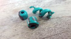 Octopus themed polymer clay dreadlocks beads made by warrior locks