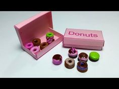 How to Make Miniature Donuts & Donut Box : LPS Doll Food DIY - YouTube