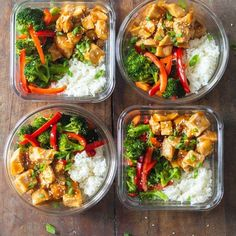 Meal prep doesn't have to be boring . Take a once a week to prep for the week ahead , prepare a menu before you go shopping prep recipes for the week videos Meal prep - teriyaki chicken Clean Recipes, Easy Healthy Recipes, Healthy Cooking, Lunch Recipes, Easy Meals, Delicious Recipes, Lunch Meals, Heathy Lunch Ideas, Weekly Meal Prep Healthy