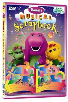 Barney - Barney's Musical Scrapbook (1997) (Barney Theme Song / Mister Sun / And The Green Grass Grows All Around / My Kite / The Clapping Song / The Ants Go Marching / S'Mores / The Barney Bag / Number Limbo / Let's Go On An Adventure / That's What An Island Is / My Hat, It Has Three Corners / Gonna Have A Party / Muffin Man Medley / Ta-Ra-Ra Boom-Dee-Ay / I Love You - 1995)