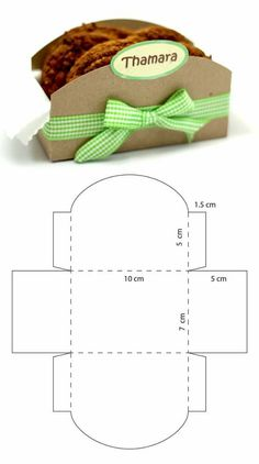Diy Geschenk Basteln Caja para galletas - Diy Geschenk Basteln Caja para galletas You are in the right place about diy projects Here we offe - Diy Paper, Paper Crafts, Foam Crafts, Box Patterns, Cookie Box, Diy Gift Box, Diy Crafts For Gifts, Gift Baskets, Gift Wrapping