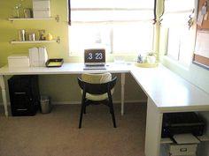 Image result for large corner desk built in