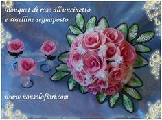Bouquet rose all'uncinetto - crochet flowers www.nonsolofiori.com