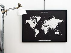 COLOUR COUNTRIES VISITED  Travel Map Colour by BoldTuesday | Etsy