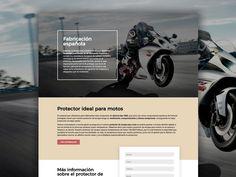 Protescap es una empresa española que fabrica protectores de tubos de escapes para motos de alta competencia. Design Web, Motorbikes