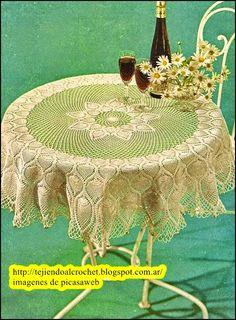 mantel tejido a crochet  http://tejiendocon-donny.blogspot.com.ar/
