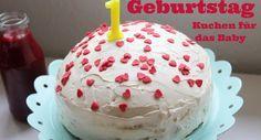 {Momday} - Kuchen zum ersten Geburtstag - mit dem leckersten Joghurt Frosting - auf tuchfühlungauf tuchfühlung zuckerarmer Geburtstagskuchen, veganer Rührkuchen mit Joghurtfrosting, Babys erster Geburtstag