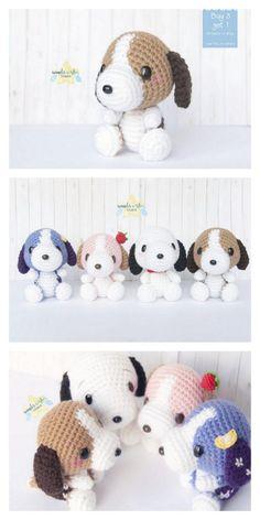 Crochet Dog Patterns, Crochet Fox, Cute Crochet, Amigurumi Patterns, Crochet Animals, Crochet Crafts, Crochet Dolls, Crochet Projects, Crochet Keyring Free Pattern