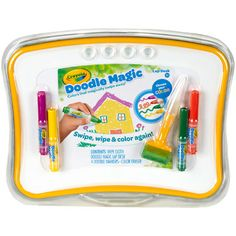 TRAVEL Doodle Magic - Lap Desk, Enjoy hours of magical coloring, drawing and writing fun on the go with the Crayola Doodle Magic Lap Desk. Lap desk helps develop fine motor skills and aids creativity. Doodle Magic, Magic Drawing Board, Board For Kids, Lap Desk, Doodle Coloring, Holiday Wishes, Crafts For Kids, Projects To Try, Doodles