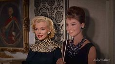 Audrey Hepburn with Marilyn Monroe! <3 (Together)