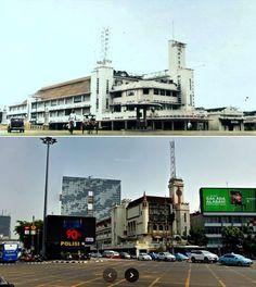 Hotel des Galeries, Batavia, 1937 1941, ,., Persimpangan Harmoni, Jakarta, 2018 Jakarta, San Francisco Ferry, Times Square, History, City, Building, Travel, Historia, Viajes
