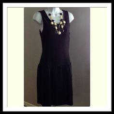 "Little Black Dress Pretty LBD with beautiful exposed gold zipper. Never worn. Length=36"" Chest=17"" Waist=14"" Worthington Dresses"