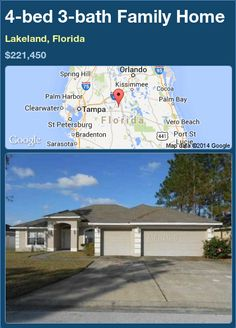 4-bed 3-bath Family Home in Lakeland, Florida ►$221,450 #PropertyForSale #RealEstate #Florida http://florida-magic.com/properties/85995-family-home-for-sale-in-lakeland-florida-with-4-bedroom-3-bathroom