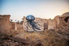 ROA - 150 artists transform tunisian village into an open air art museum