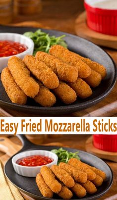 Easy Fried Mozzarella Sticks Recipe is an easy cheese sticks recipe to make from scratch. Learn how to make easy fried mozzarella sticks at home.