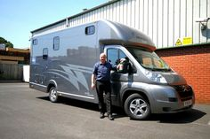 Very proud of our #horseboxes  for sale. My shirt is almost matching today! #HorseHour #KPHLTD #horseboxesforsale