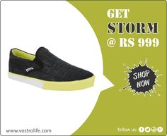 This pair is crafted with the best canvas cloth and detailed stiching. Breathable outer surface and a sturdy sole to ensure comfort and support on your sporty adventure. At par with international fashion trends, every pair of Vostro shoes is designed to bridge the gap between sportswear and casual shoes to provide its customers.  Get it from : http://vostrolife.com/men/storm-series/vostro-storm30-black-men-casual-shoes-vcs0451