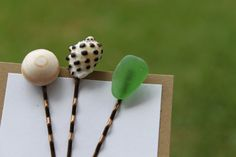 Sea Shell Hair Pins-I could do this when I go visit my sis and niece in Florida soon!