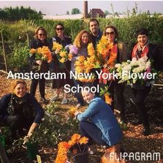 Flower School New York Amsterdam April 2014