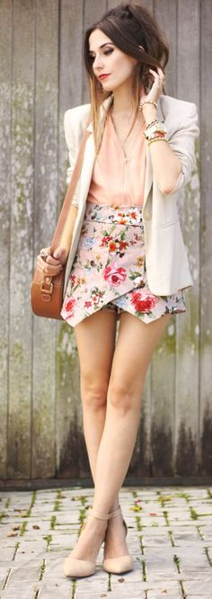 Floral Skort Styling by Fashion Coolture