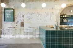 The ice-cool style and substance of 1950s southern Italy comes alive at Melbourne's Piccolina Gelateria... #InteriorDesignCafe
