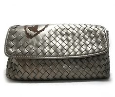 Bottega Veneta bags Bi Fold Woven silver