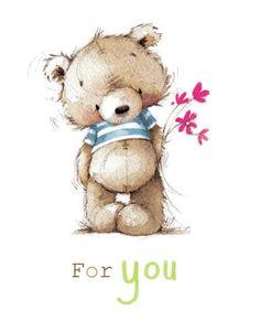 Lizzie Walkley - Bear_flowers_card