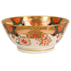 An Early 19th Century Spode Imari Porcelain Punch Bowl