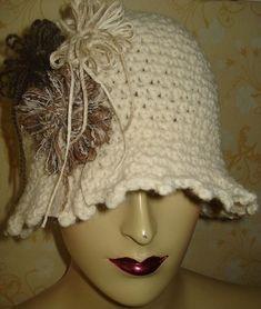 Claudette - Loom flower hat by embellishedlife, via Flickr