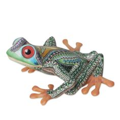 Shop unique, award-winning Artisan treasures by NOVICA, the Impact Marketplace. Each original piece goes through a certification process to guarantee best value and premium quality. Polymer Clay Sculptures, Sculpture Clay, Clay Projects, Clay Crafts, Finger Curls, Clay Figurine, Clay Animals, Tree Frogs, Animal Sculptures