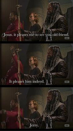"""Oh come on dude, don't be like that. Jerry is awesome, The Walking Dead, season 7, episode 9, """"Rock In The Road"""""""